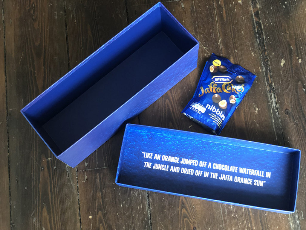 jaffa nibbles packaging