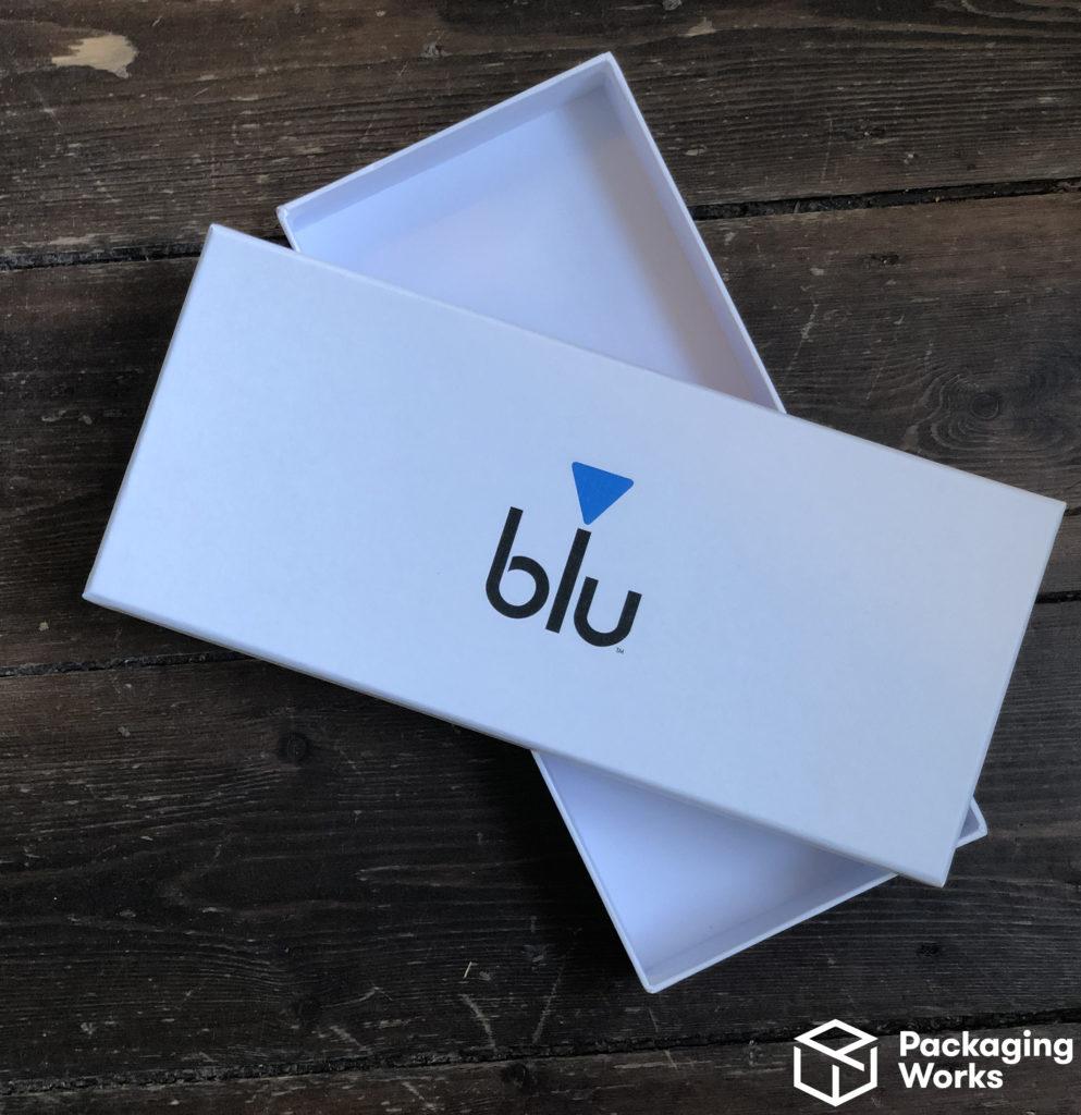 Custom Blu packaging