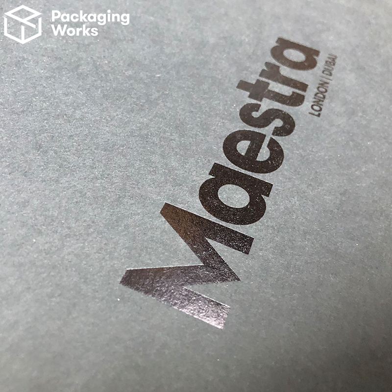 Foil printed bespoke packaging
