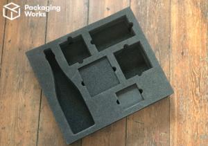 Box with foam inserts